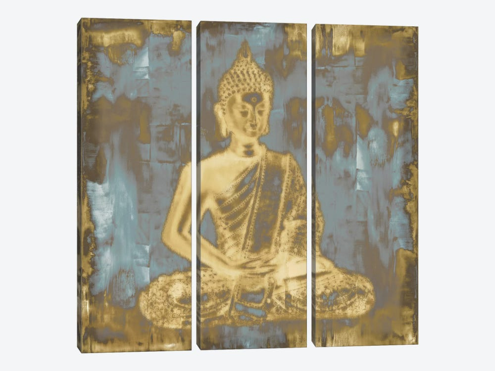 Meditating Buddha by Tom Bray 3-piece Art Print