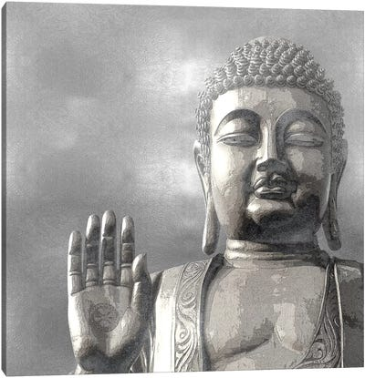 Silver Buddha Canvas Art Print