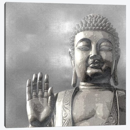 Silver Buddha Canvas Print #TRY5} by Tom Bray Canvas Art