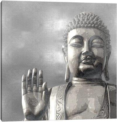 Silver Buddha Canvas Art Print