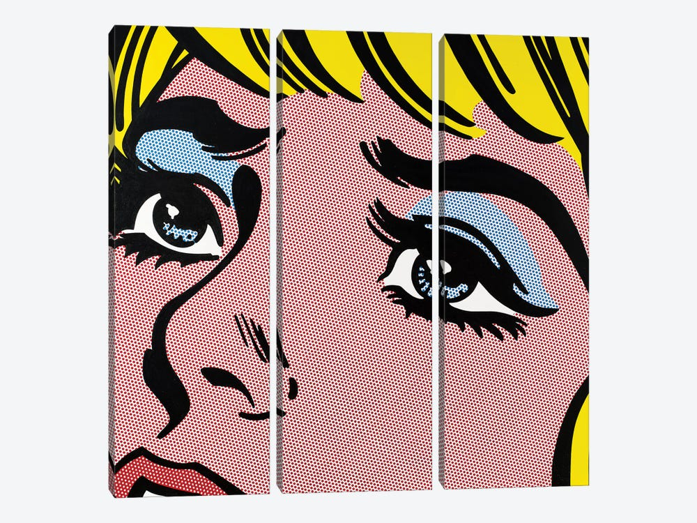 Sad Eyes by Toni Sanchez 3-piece Canvas Wall Art