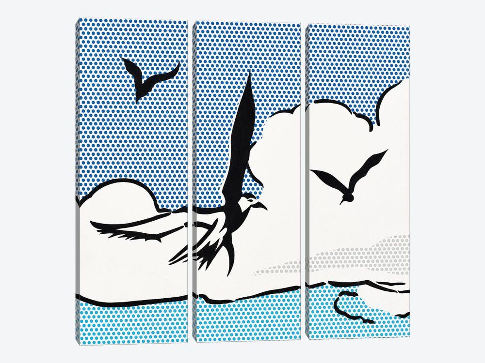 Seagulls by Toni Sanchez 3-piece Art Print