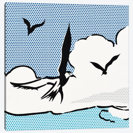 Seagulls Canvas Print #TSA17} by Toni Sanchez Canvas Print