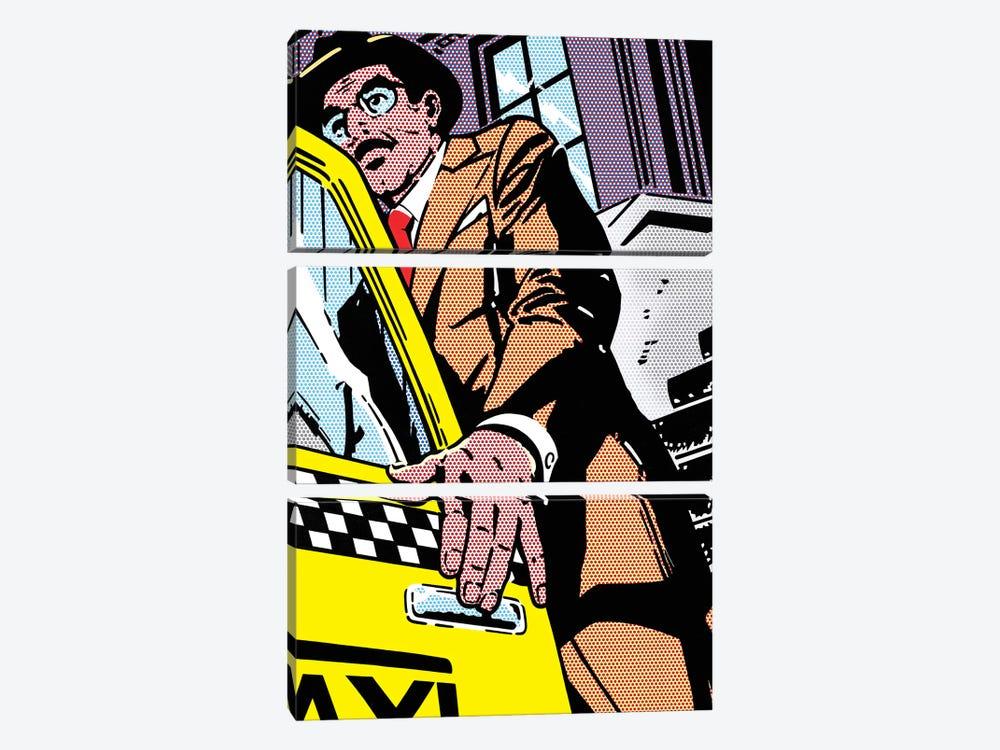 Taxi by Toni Sanchez 3-piece Canvas Print