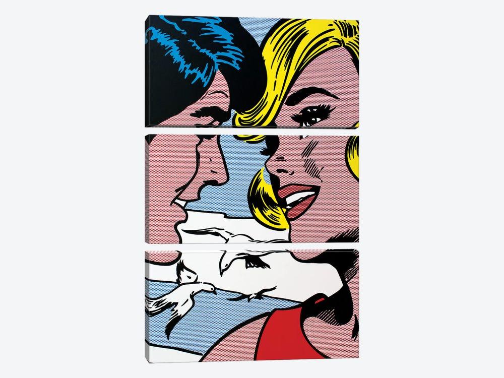 The Meeting by Toni Sanchez 3-piece Canvas Art Print
