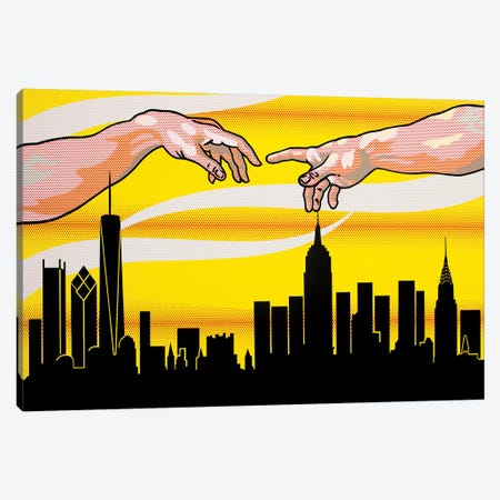 Yellow Skies Over Paradise Canvas Print #TSA27} by Toni Sanchez Canvas Art