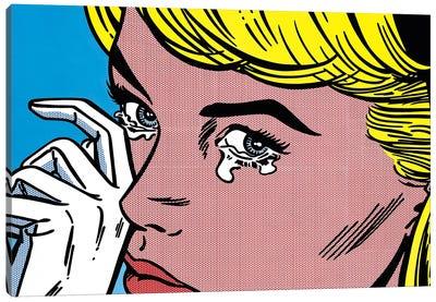 Crying Canvas Art Print