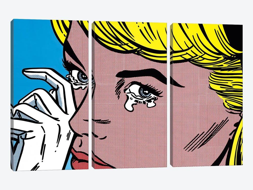 Crying by Toni Sanchez 3-piece Canvas Artwork