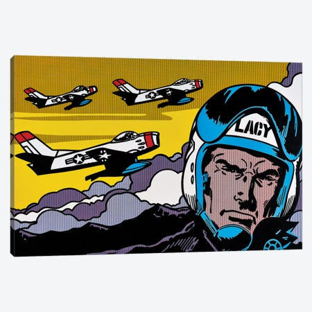 Lacy 3-Piece Canvas #TSA9} by Toni Sanchez Canvas Print