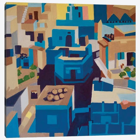 Blue City, Jodhpur Canvas Print #TSD10} by Toni Silber-Delerive Canvas Print
