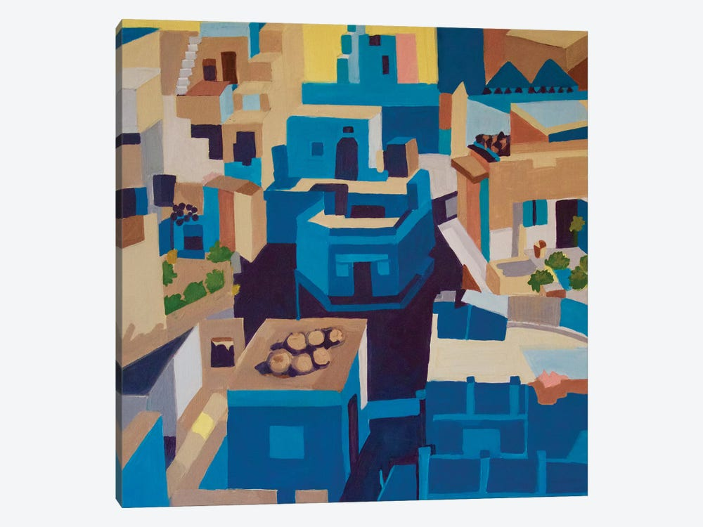 Blue City, Jodhpur by Toni Silber-Delerive 1-piece Canvas Art