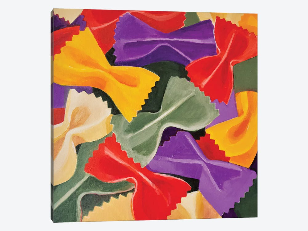 Bowties by Toni Silber-Delerive 1-piece Canvas Wall Art