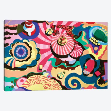 Carnival Canvas Print #TSD15} by Toni Silber-Delerive Canvas Wall Art