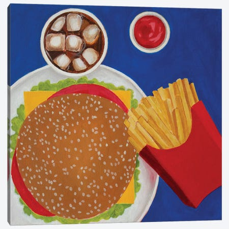 Cheeseburger Canvas Print #TSD16} by Toni Silber-Delerive Canvas Wall Art
