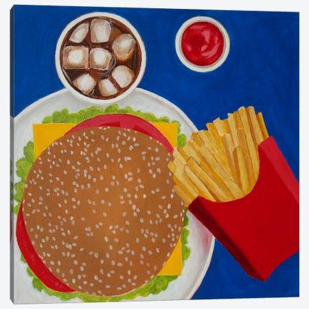 Cheeseburger Canvas Print #TSD16} by Toni Silber-Delerive Canvas Wall Art