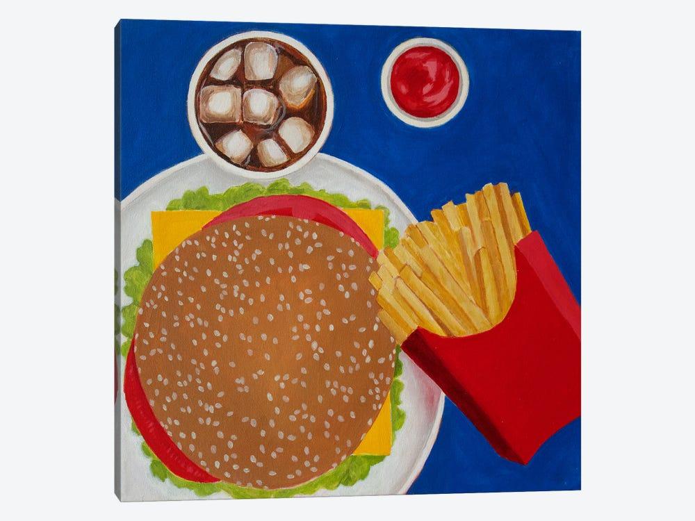 Cheeseburger by Toni Silber-Delerive 1-piece Canvas Art