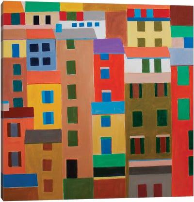 Cinque Terre Houses Canvas Art Print