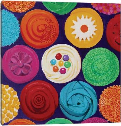 Colorful Cupcakes Canvas Art Print