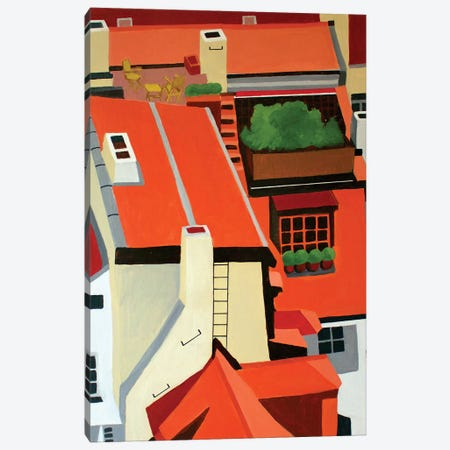 Czech Republic Rooftops Canvas Print #TSD23} by Toni Silber-Delerive Canvas Wall Art