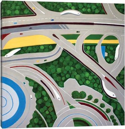 Dubai Roadways Canvas Art Print