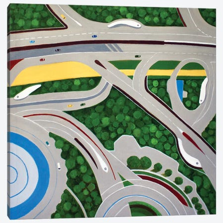 Dubai Roadways Canvas Print #TSD25} by Toni Silber-Delerive Canvas Art Print