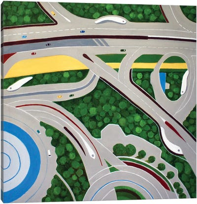 Dubai Roadways Canvas Art Print