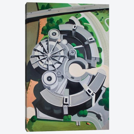 Dusseldorf Canvas Print #TSD26} by Toni Silber-Delerive Art Print