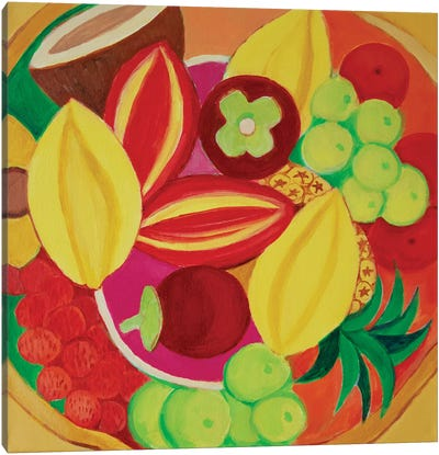 Exotic Fruit Bowl Canvas Art Print