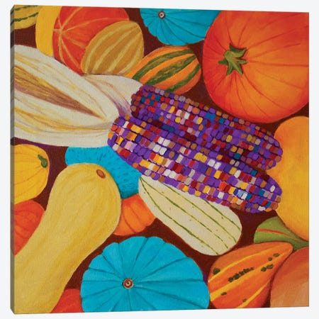 Fall Harvest Canvas Print #TSD31} by Toni Silber-Delerive Canvas Print