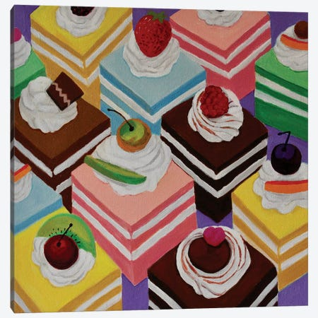 Fancy Cakes Canvas Print #TSD32} by Toni Silber-Delerive Art Print