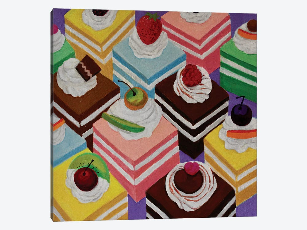 Fancy Cakes by Toni Silber-Delerive 1-piece Canvas Wall Art