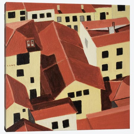 Florence Rooftops Canvas Print #TSD33} by Toni Silber-Delerive Canvas Art Print