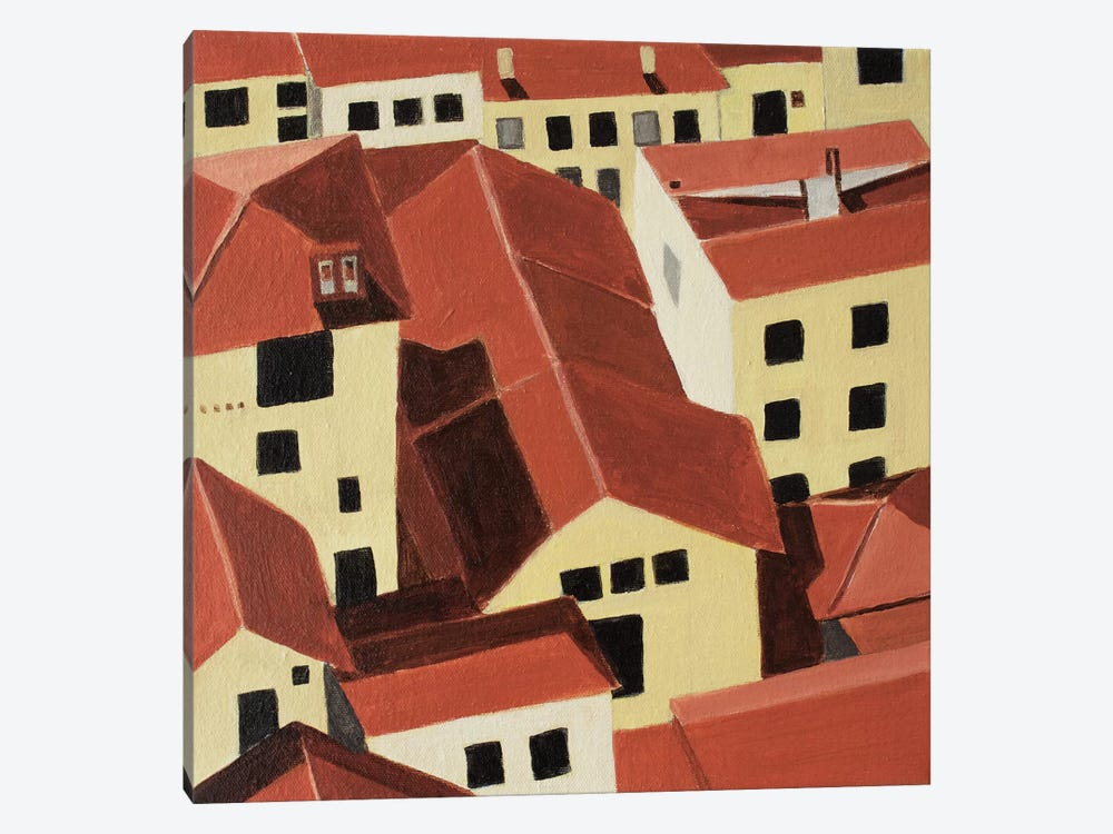 Florence Rooftops by Toni Silber-Delerive 1-piece Canvas Art Print