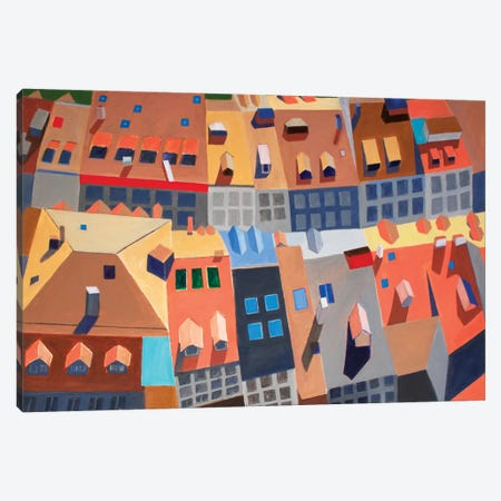 Fribourg, Switzerland Canvas Print #TSD34} by Toni Silber-Delerive Canvas Artwork