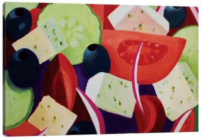 Greek Salad Canvas Art Print
