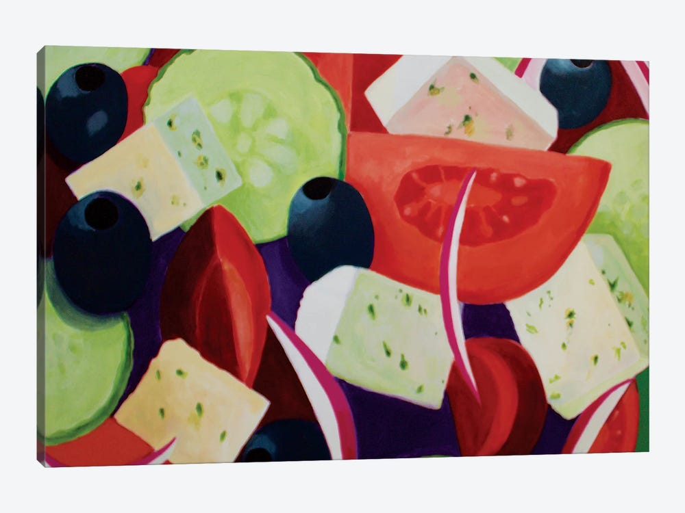 Greek Salad by Toni Silber-Delerive 1-piece Art Print