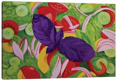 Green Salad Canvas Art Print