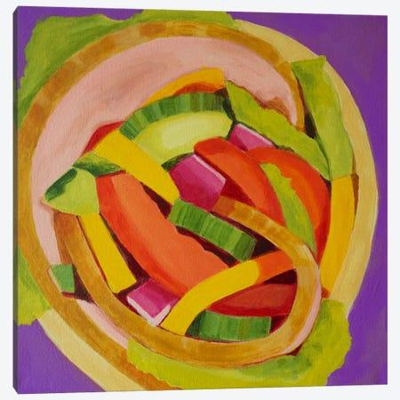 Ham Wrap Canvas Print #TSD38} by Toni Silber-Delerive Canvas Art Print