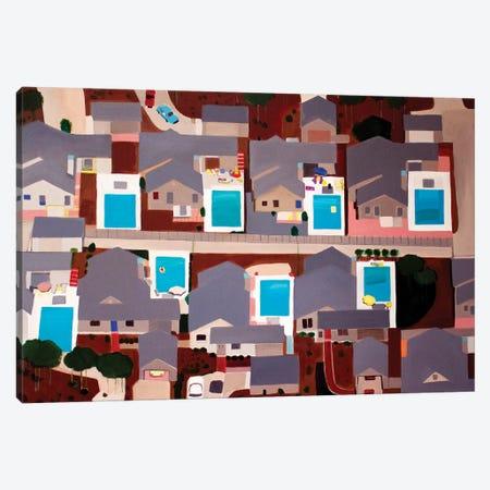 Identical Pools Canvas Print #TSD40} by Toni Silber-Delerive Canvas Artwork