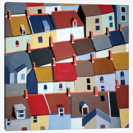London Terraced Buildings 3-Piece Canvas #TSD43} by Toni Silber-Delerive Canvas Wall Art