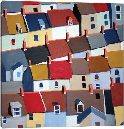London Terraced Buildings Canvas Art Print