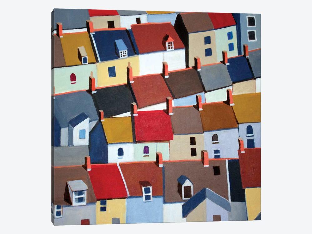 London Terraced Buildings by Toni Silber-Delerive 1-piece Canvas Artwork