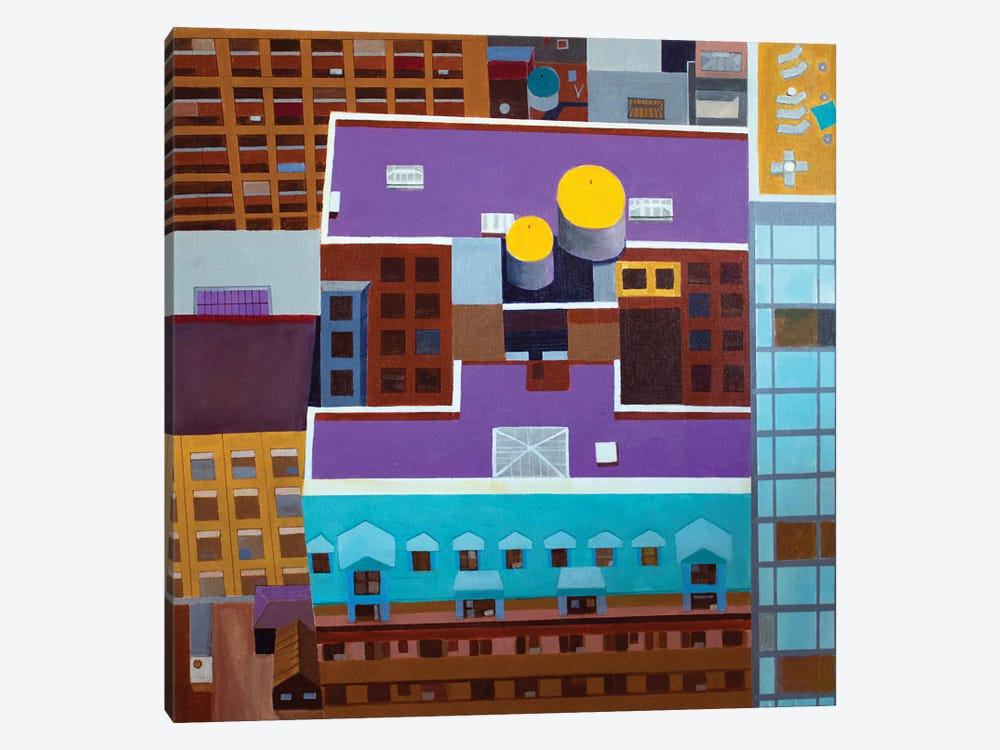 Midtown NYC Rooftop by Toni Silber-Delerive 1-piece Canvas Art Print