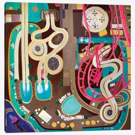 NJ Water Park Canvas Print #TSD47} by Toni Silber-Delerive Canvas Art Print