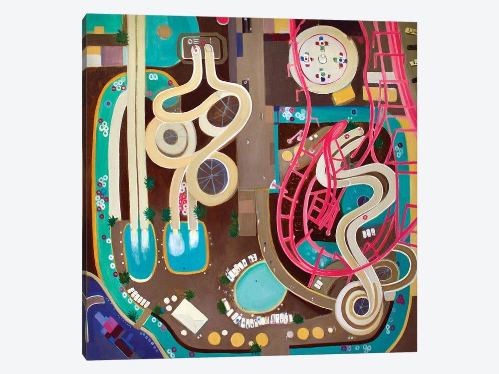 NJ Water Park by Toni Silber-Delerive 1-piece Canvas Art