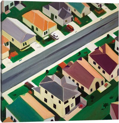 Northeast Suburb Canvas Art Print