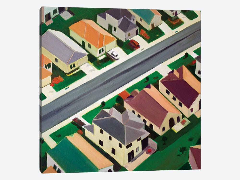 Northeast Suburb by Toni Silber-Delerive 1-piece Art Print