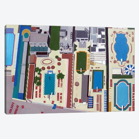 Art Deco Pools Canvas Print #TSD4} by Toni Silber-Delerive Canvas Print