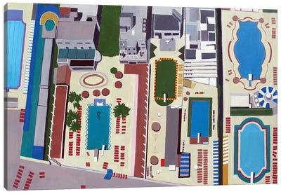 Art Deco Pools Canvas Art Print