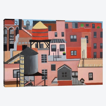 NYC Skyline Canvas Print #TSD51} by Toni Silber-Delerive Art Print